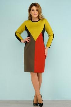 Платье Lady Secret 3522 горчица