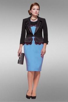 Костюм Lady Secret 3803 чёрно-бирюзовый