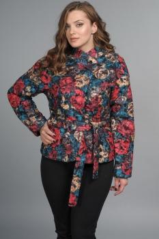 Куртка Lady Style Classic 121 бирюза+бордо
