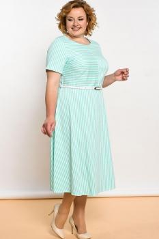 Платье Lady Style Classic 1319-1 Полоска мятно-белая