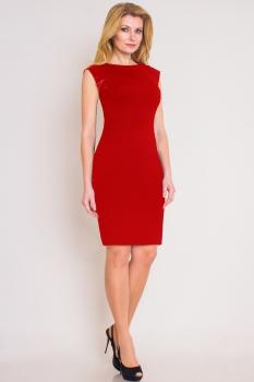 Платье Lady Three Stars 1213-1 оттенки красного