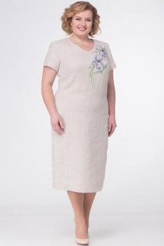 Платье Lady Three Stars 1781 бежевые тона