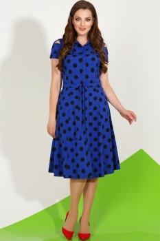 Платье LaKona 1035-2 синий с чёрным