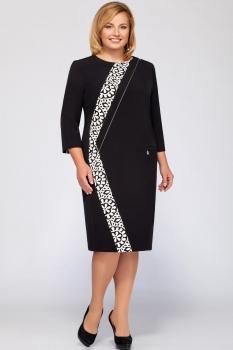 Платье LaKona 1056 чёрный с белым
