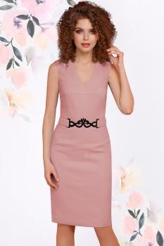 Платье LeNata 11794-1 пудра