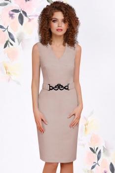 Платье LeNata 11794-2 бежевые тона
