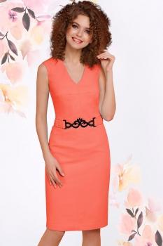 Платье LeNata 11794-3 коралл