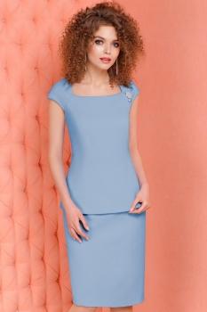 Платье LeNata 11864-2 голубые тона