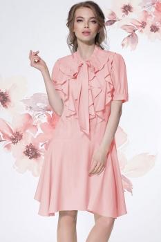 Платье LeNata 11881-3 розовый (пудра)