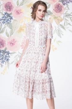 Платье LeNata 11891-2 мелкие цветы