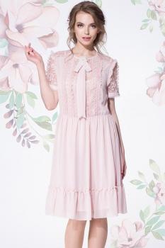 Платье LeNata 11892-3 пудра