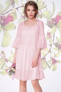 Платье LeNata 11893-1 пудра