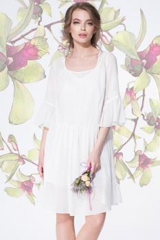 Платье LeNata 11893-6 молочный