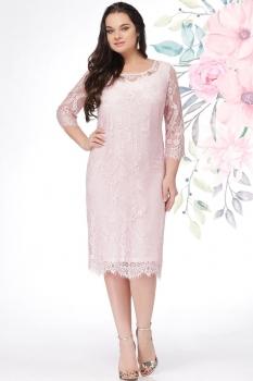 Платье LeNata 11908 пудра