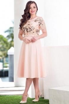 Платье Лилиана 565 пудра