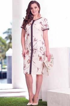 Платье Лилиана 566 бело-молочный оттенок