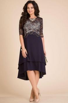 Платье Лилиана 590 темно-синий