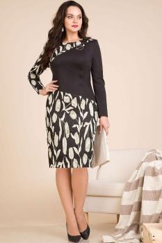 Платье Лилиана 595 черный оттенок