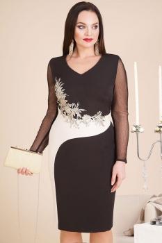 Платье Лилиана 605К-2 черный