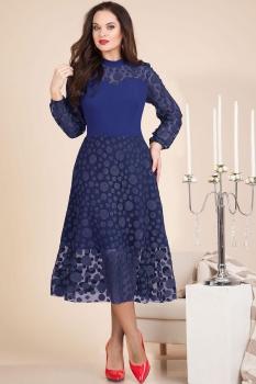 Платье Лилиана 607-1 темно-синий