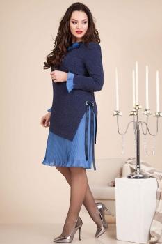 Платье Лилиана 613-1 темно-синий