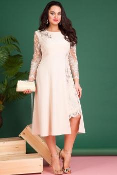 Платье Лилиана 617 бежево-молочный оттенок
