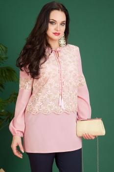 Блузка Лилиана 622 нежно-розовый