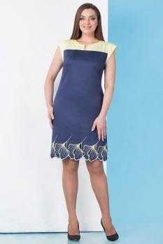Платье Линия-Л 1522Б-1 синие тона