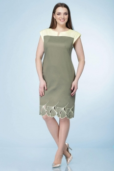 Платье Линия-Л 1522Б олива