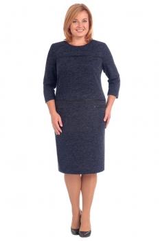 Платье Линия-Л 1593-1 синие тона