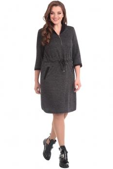 Платье Линия-Л 1596 темно-серый