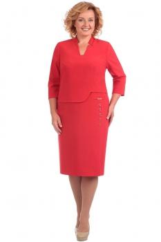 Платье Линия-Л 1600 оттенки красного