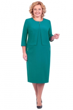 Платье Линия-Л 1602-2 бирюза