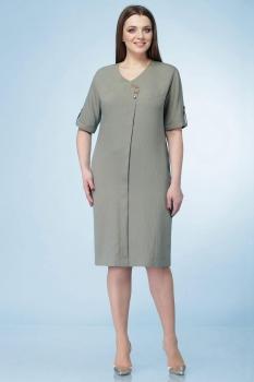 Платье Линия-Л 1634 светлый хаки