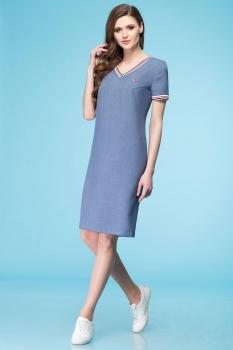 Платье Линия-Л 1638-1 джинс