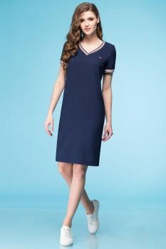 Платье Линия-Л 1638 темно-синий