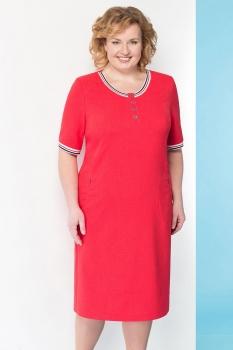 Платье Линия-Л 1639-1 красные тона