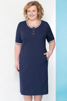 Платье Линия-Л 1639 синие тона