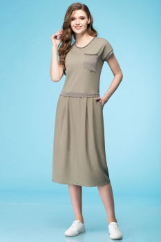 Платье Линия-Л 1641 хаки