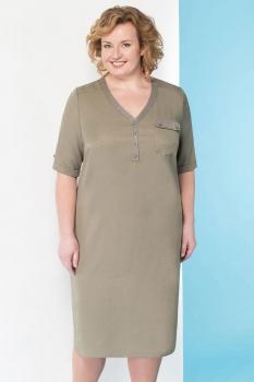 Платье Линия-Л 1643 хаки