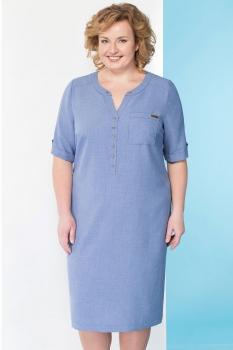 Платье Линия-Л 1644 оттенки голубого