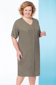 Платье Линия-Л 1649 оттенки зеленого