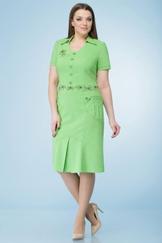 Платье Линия-Л 999-2 оттенки зеленого