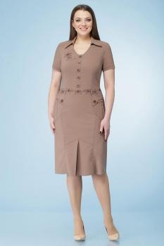 Платье Линия-Л 999-3 кофе