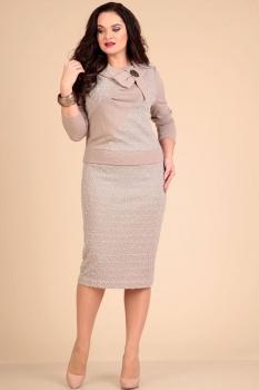 Платье Лиона-Стиль 383-1 бежевые тона