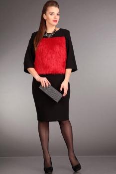 Платье Лиона-Стиль 566-1 с красным