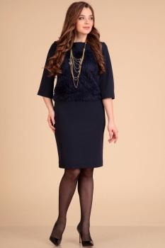 Платье Лиона-Стиль 566-2 темно-синий