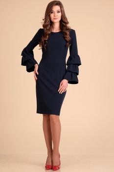 Платье Лиона-Стиль 593-1 темно-синий