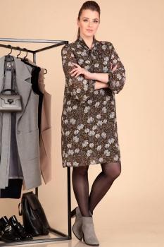Платье Лиона-Стиль 596 хаки