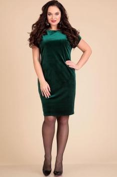 Платье Лиона-Стиль 610-1 темно-зеленый